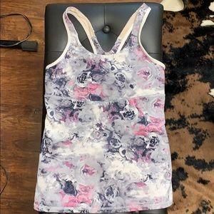 Lululemon Floral Workout Tank
